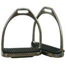"Stirrup iron / stainless steel ( 4 3/4"") pair"