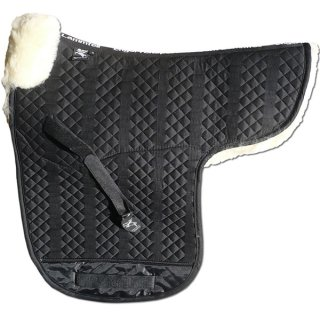 Contoured saddle pad with pommel roll