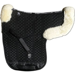 Contoured saddle pad with pommel roll and cantle roll