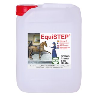 EQUISTEP hoof oil with laurel oil, 5 l canister
