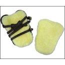Lambskin for tendon boots 30x25 black