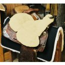 Seat saver western with horn cout cut camel