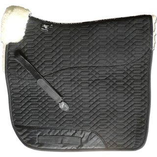 Full saddle pad with pommel roll dressage bordeaux anthracite