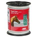 TopLine Fence Tape 200m - 20mm white-black
