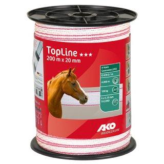 TopLine Fence Tape 200m - 20 mm white-pink
