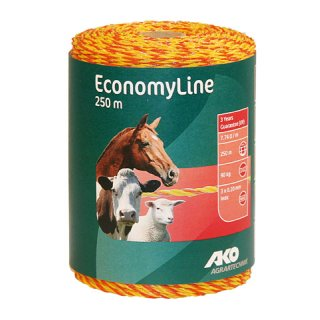 EconomyLine Polywire 250m, yellow/orange