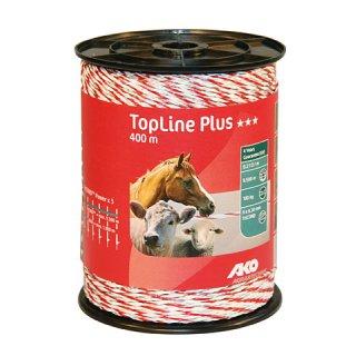 TopLine Plus, Weidezaunlitze 400m, weiß-rot, 9 x 0,3mm TriCOND