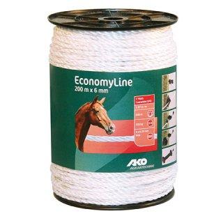 EconomyLine Fence Rope 200m, 6mm, white