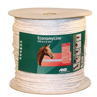 EconomyLine Fence Rope 500m, 6mm, white