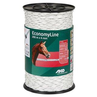 EconomyLine, Seil kreuzgewickelt, 200m, 4mm, weiß, 2 x 0,5mm FeZn