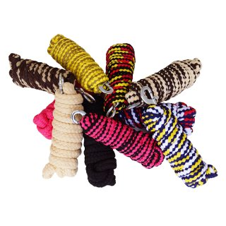 """Leadrope """"Soft"""" with snap hook 2m - 10 pieces!!! - mixed"""