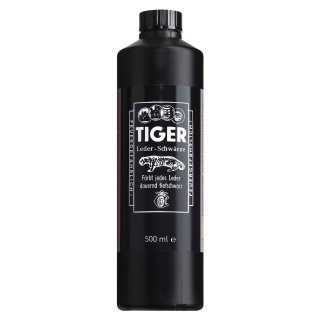 B&E TIGER - Leder - Schwärze 500ml