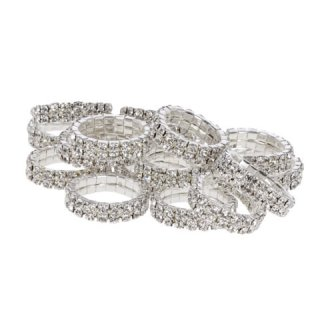 Mane bands with rhinestones, 10 pieces