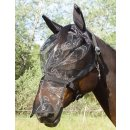 Halter with integrated fly mask black Pony