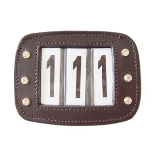 """Numbers Plate """"Leather"""" three-digit, single piece"""