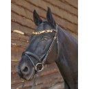 "Amber bridle ""German Riding"" Luxury"